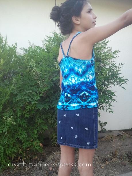 racer back & stamp skirt