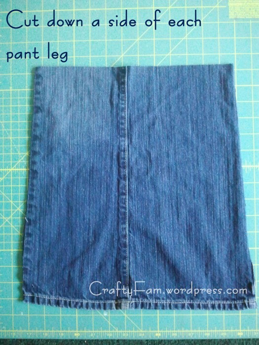 stamp jean skirt