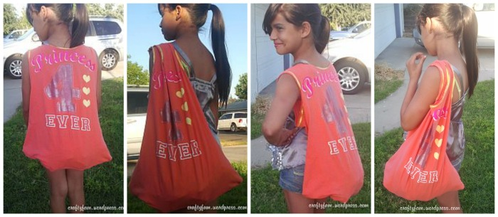 upcycle t-shirt into a bag