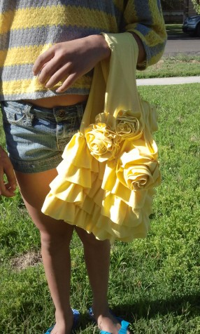 Rose Ruffle Bag