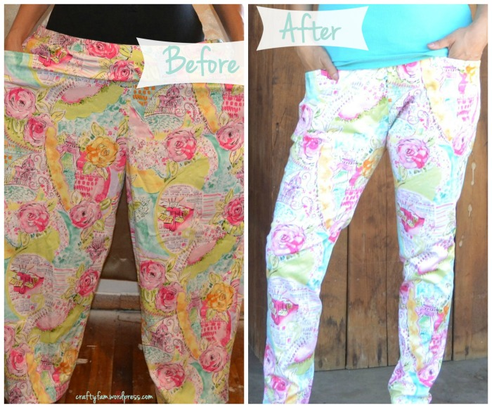 upcycle floral pants