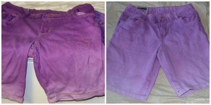 purple ombre shorts