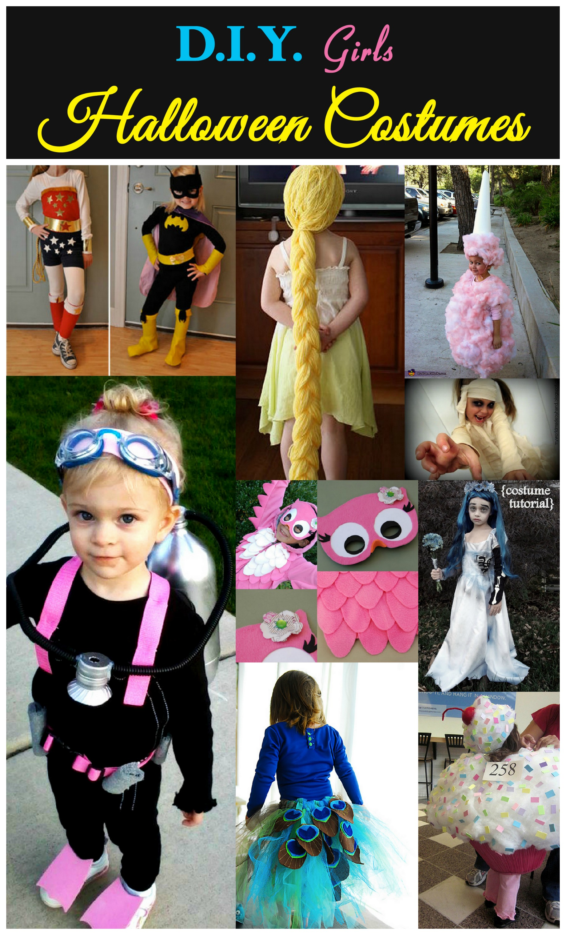 D.I.Y Girls Halloween Costumes | Crafty Family