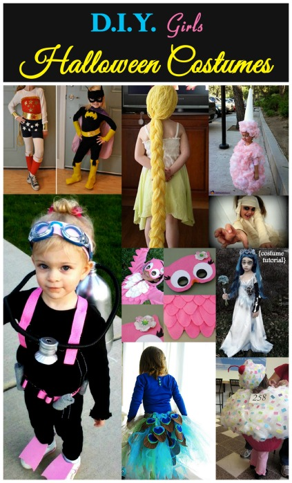 girls halloween collage